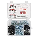 Xitomer Aftermarket 71 PCS Fenders Seat Shrouds Bolt Kit, Fit for Honda CR 60 80 85 125 250 450 480 500 / CRF 150 250 450 / CRF150R CRF250R CRF450R, Plastic Body Bolt Kit