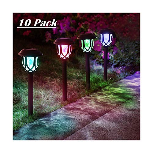 10 Pack Color Changing Solar Lights Outdoor Decorative