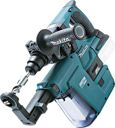 Makita DHR242Z 18v LXT Brushless Rotary Hammer Drill + DX01 Dust Extractor Unit