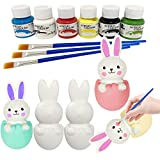 Xinge 5 Pack DIY Christmas Squishy Toys Includes Santa, Christmas Tree, Reindeer,Stocking & Snowman Kawaii Slow Rising Squishy Toys Party Favor for Kids (Bunny-2)