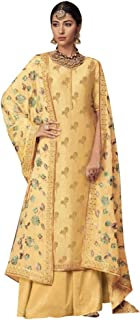 Yellow Palazzo Suits Collection for Wedding Salwar Kameez Style Dress Muslim Sharara Wedding Custom to Measure Dola Silk Eid 8406