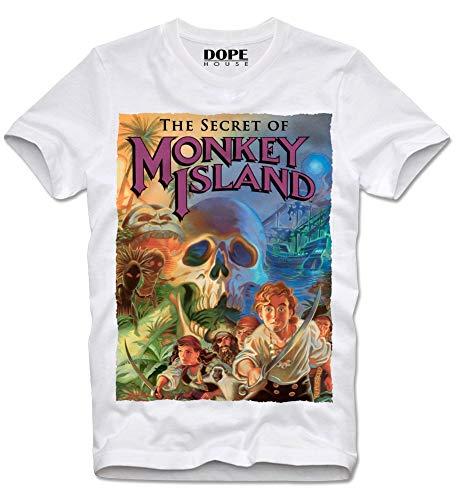 DOPEHOUSE T Shirt Camiseta The Secret of Monkey Island Amiga Commodore C64 Game Gamer Atari Cult M