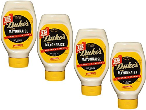 Duke's Real Mayonnaise, 18 Fl Oz. squeeze bottle,Pack of 4