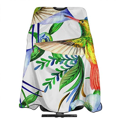 DNWHA Tropical Hawaii Blätter Palme im Aquarell-Stil, isoliert, professionelle Friseurschürze, Polyester, 139,7 x 167,6 cm, geeignet für Friseursalon oder Zuhause