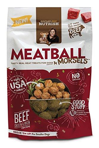 Rachael Ray Nutrish Meatball Morsels Grano para perros, carne de res, pollo y tocino, 3 oz. Muestra de bolsa