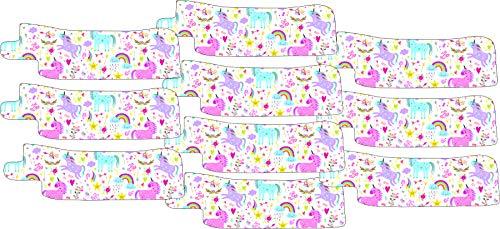 Nasogastric or Oxygen Tube precut Adhesive Tape Rainbow & Unicorns x 10 Pack. (Mix Left & Right Side)