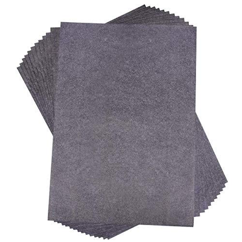 Kohlepapier für Holz, Papier, Leinwand und andere Oberflächen, schwarz, 100 Blatt