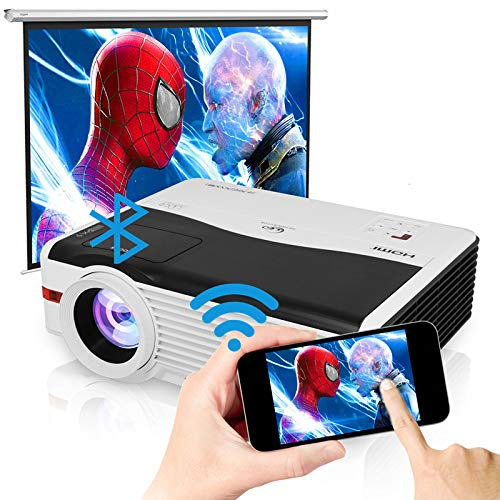 ZCGIOBN Smart Android Home Theater Outdoor Movie Gaming Video Projector