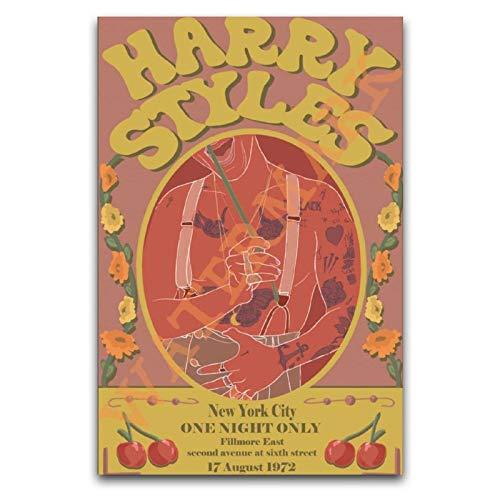 WPQL Harry Styles 70's Tour Poster Dekoration Gemälde Leinwand Wandkunst Schlafzimmer Wohnzimmer Poster Gemälde 40 x 60 cm
