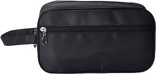 iSuperb Toiletry Bag Travel Organizer Classy Waterproof Portable Wash Gym Shaving Bag for Men 10x6x4inch(Black)