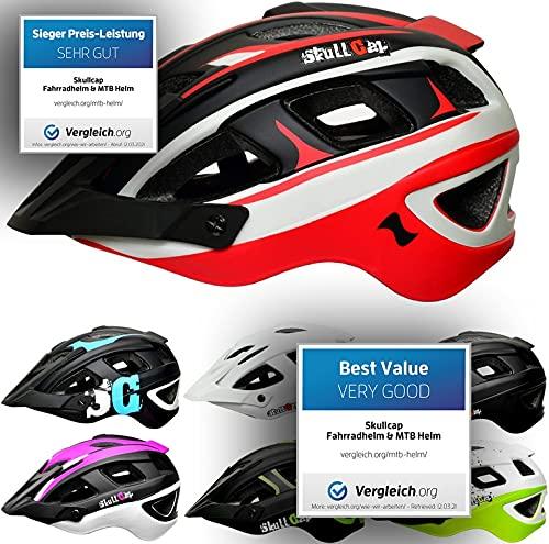 Skullcap® Fahrradhelm & MTB Helm + Visier für Herren & Damen (olympTRAIL, M (55-58 cm))