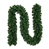 likeitwell Guirnaldas Decoraciones, Verde Claro Navidad ratán Guirnalda decoración 9ft sin Decorar árbol de Navidad Artificial guirnaldas Ornamento Verde Pino Guirnalda