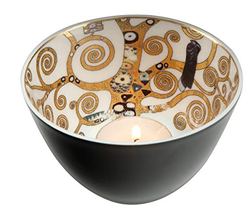 Goebel Artis Orbis Teelichthalter, Porzellan, Mehrfarbig, 7.5x7.5x7.5 cm