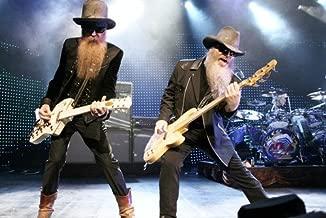 zz top rock legends playing guitars 24x36 Poster