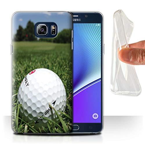 Stuff4 Gel TPU Hülle/Hülle für Samsung Galaxy Note 5/N920 / Fairway-Laufwerk Muster/Golfsport-Fan Kollektion