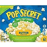Pop Secret 94% Fat Free Butter Popcorn, 6 Count Boxes (Pack of 6)