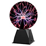 Gresus 8 Inch Magic Plasma Ball Lamp - Touch & Sound Sensitive Interactive