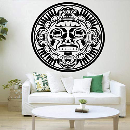 SUPWALS Artistic Wall Decals Bedroom Decor Mask Indian Ornament Vinyl Wall Stickers Home Decoration Accessories For Living Room
