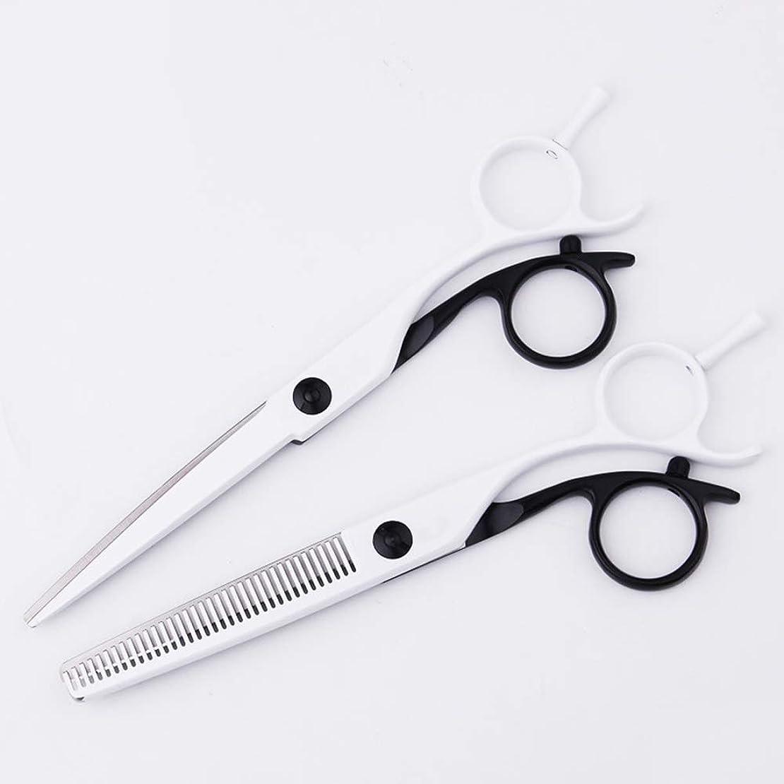 害虫ごめんなさい経済的Goodsok-jp 440Cステンレススチール理髪はさみ、前髪理髪はさみフラットはさみ歯はさみセット (サイズ : 6.5 inch flat+6 inch teeth)