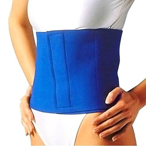 Cinturón reductor ajustable, banda abdominal reductora, cinturón adelgazante unisex, color azul, 1 unidad 🔥