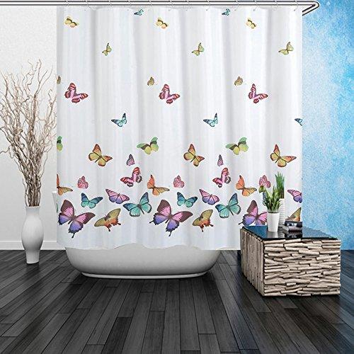 DAFENP Duschvorhang Anti-Schimmel Wasserdichter Anti-Bakteriell & Umweltfre&lich inkl. 8 Duschvorhangringe für Badezimmer,180x180 cm (style21)
