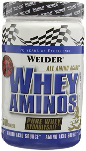 Weider Whey Amino Hydrolyzed Protein Powder,, Build Muscle and Strength, 300 tablets