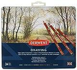 Derwent Drawing - Lápices de dibujo en estuche de metal (24 colores, de madera)