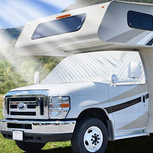 RVMATE RV Class C Windshield Cover Only for Class C Ford 1996 -2016, RV Front Window Cover, Motorhome Window Cover