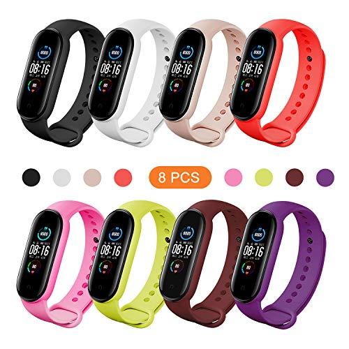 BDIG Schön Armband Ersatz für Xiaomi Mi Band 5 Bunte Sport Soft Silikon Armband Smartwatch Armband Straps für Xiaomi MIBand 5