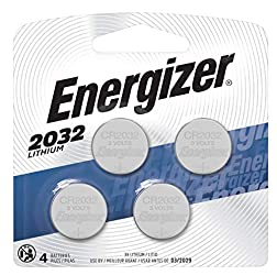Energizer 2032 Batteries 3V Lithium, (4 Battery Count) Replaces BR2032, DL2032, ECR2032