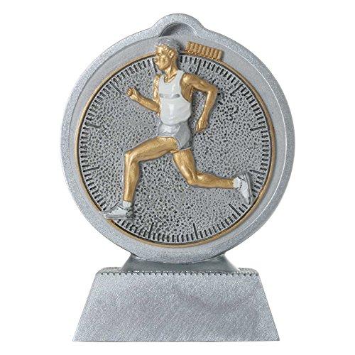 pokalspezialist Pokal mit 3D Motiv Laufen Laufsport Crosslauf Marathon Serie Ronny 10,5 cm hoch