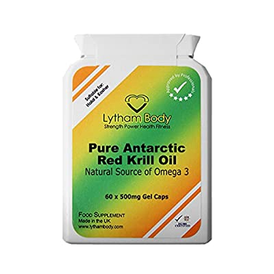 Pure Red Antarctic Krill Oil 500mg x 60 Capsules. A Excellent Pure Product with no Added Ingredients.