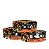 Gorilla 6035180 テープ ブラックダクトテープ 1.88 インチ x 35 ヤード ブラック 1 個入りパック 3 Pack 6003516 3