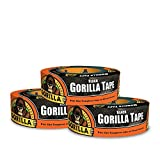 Gorilla Black Duct Tape, 1.88' x 35 yd, Black, (Pack of 3)