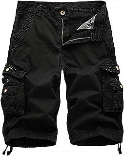 IDEALSANXUN Men's Military Cargo Shorts Casual Loose Fit Multi-Pockets Tactical Cargo Shorts