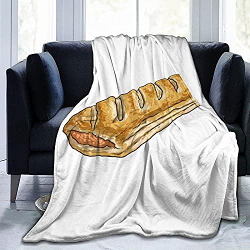 CSDGHRHX Manta de vellón súper Suave y Liviana Sausage Roll Se Utiliza para sofá Cama y Manta de Reserva de Viaje 125cmX100cm.