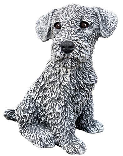 Steinfigur Hund Terrier, Frost- und wetterfest bis -30°C, massiver Steinguss