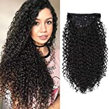 BHF 26 inch Curly Clip In Hair Extensions, 140g/set Double Weft Full Head Heat Resistance Synthetic Hair Extension For Women 7pieces (#2)