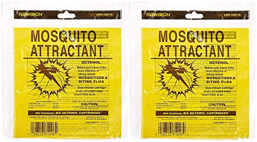 Flowtron MA-1000-6 Octenol Mosquito Attractant Cartridges, 6-Pack (2 X Pack of 6)
