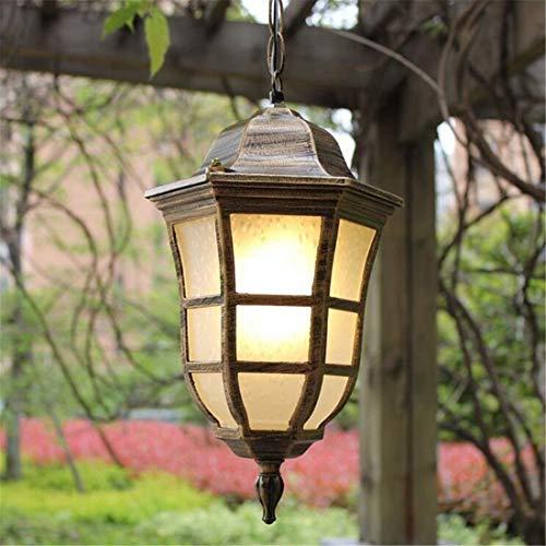 Led Applique murale Chandelierenergy 1-lumière poteau extérieur Lanterne Paysage Jardin Villas Porte Colonne Lampe (Couleur: Noir-15 * 37Cm)