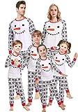Matching Family Christmas Pajamas for Men Kids Boys Girls Snowman Sleepwear Children PJs Women L