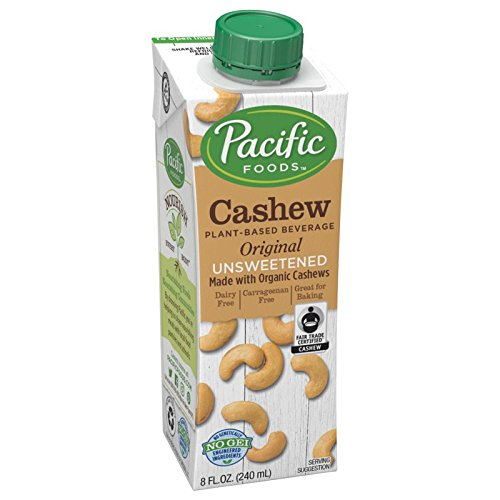 Pacific Foods Cashew Unsweetened Original Plant-Based Beverage, 8oz, 12-pack