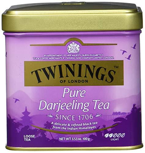 Twinings Pure Darjeeling loser Tee Dose 100g, Schwarztee, Der Schwarztee ist würzig, mit einem Hauch von Muskatgeschmack. Black Tea 6er Pack (6 x 100 g)