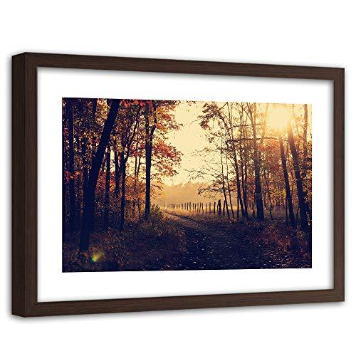 Feeby Imagen Enmarcado marrón XXL Paisaje Arte Otono