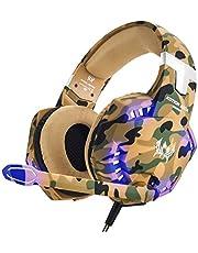 EasySMX Gaming headset, Deep Bass gaming hoofdtelefoon met microfoon, stereogeluid, ruisisolatie en volumeregeling, over-ear headset voor PC PS4 Xbox One
