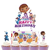 Party Decor for Doc McStuffin Cake Cupcake Toppers Theme Birthday Supplies Favors Topper Decorations