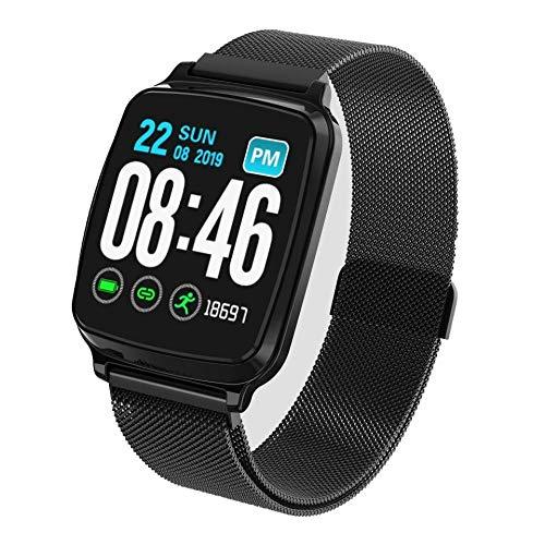 Reloj Inteligente Mujer Hombre,Pulsera Deportiva de frecuencia cardíaca y presión Arterial, monitorización del sueño, Pulsera Inteligente-A4,Pulsera de Actividad Inteligente Reloj Deportivo