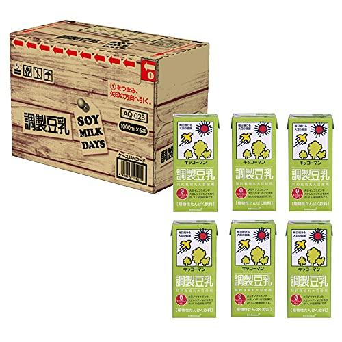 [Amazon限定ブランド] キッコーマン 調製豆乳 SOYMILK DAYS 1000ml×6本