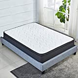 Luxury Euro Top 10 Inch Memory Foam Mattress Pocket Spring Coils,Firm but Comfortable,Soft Cotton Knitted Cover,CertiPUR-US Certificated (Full)