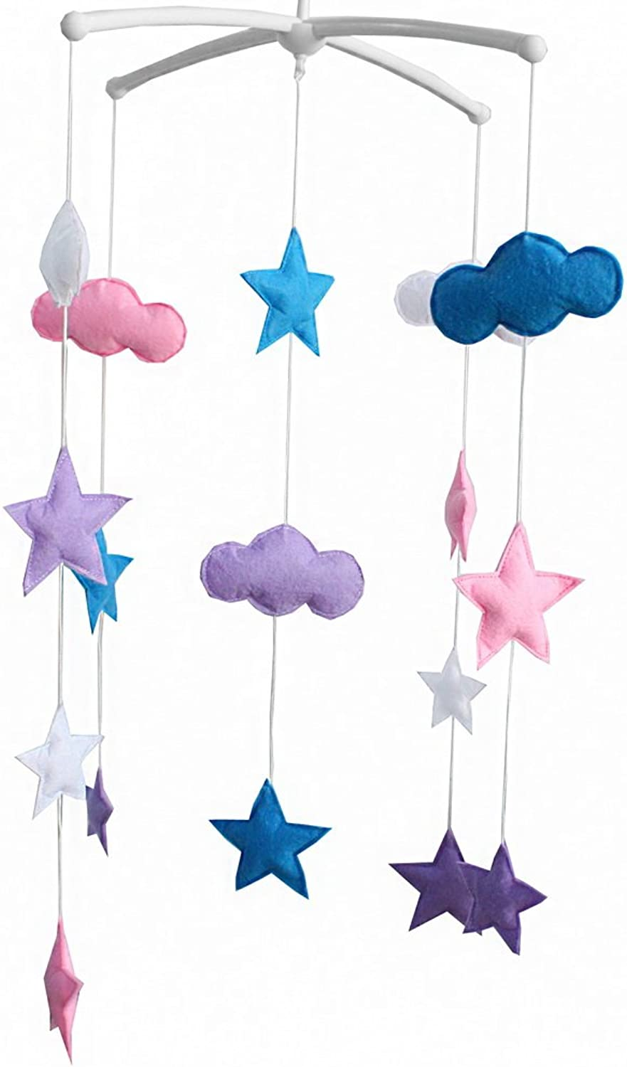 Baby Crib redatable Bed Bell [Cloud and Stars] colorful Baby Toys